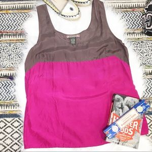Velvet Silk Color Block Tank